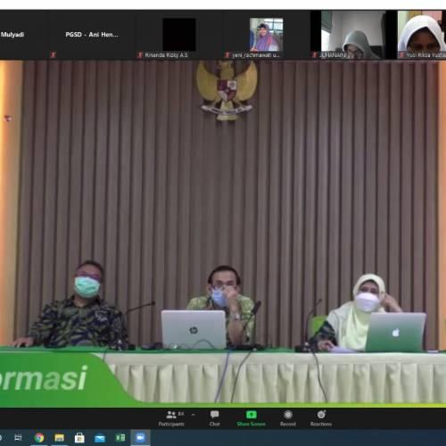 Pimpinan dan Dosen Prodi Teknologi Pendidikan Mengikuti Acara Sosialisasi Panduan PPBM dan Implementasi MBKM